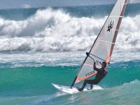 windsurfing in the sea