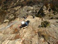 实践铁索攀岩通过在阿利坎特