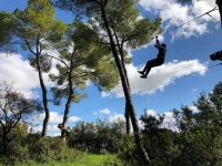 Descent of zip line in La Juliana
