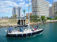 Barco en el Mediterráneo