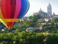 热气球穿越塞哥维亚