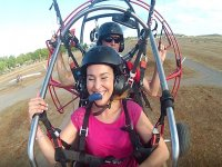 Girl flying on trike Caceres