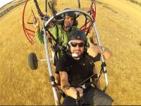 Saluting from the paramotor in Caceres