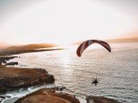 动力伞日落