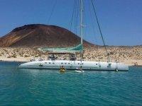 Catamaran de lujo en Canarias