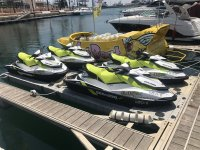 Nautical motorcycles in the Seadoo port