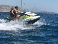 Costa Blanca ride in a jet ski