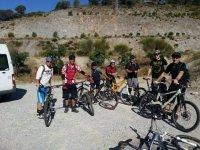 Grupo de mountain bikes