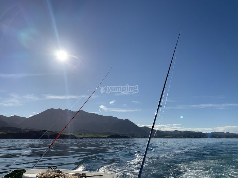 Giornata di pesca nelle Asturie