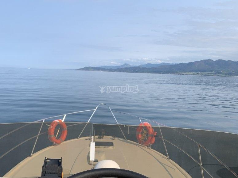 Paseo con patrón de barco Asturias