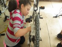 Bike cleaning in Portocolom