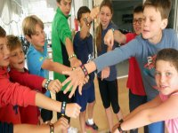 Students of the campus with bracelets in Mallorca