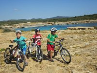 Excursion btt in the campus of Portocolom