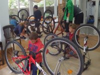 Bike workshop in Portocolom