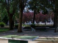 Mesas en el patio