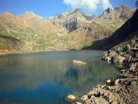 Landscapes of high mountain of great value