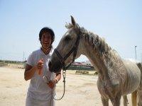 Dandole un caprichin al caballo