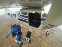 Jumping from the light aircraft