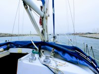 Rent the sailboat with skipper in Port Olimpic