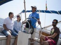 Excursion en barco en el Mediterraneo