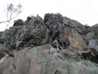 escalando con los amigos
