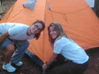 Disfrutando de la acampada