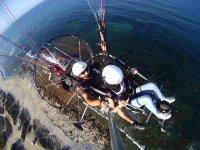 Paramotor Biplaza sobre el Mediterráneo alicantino