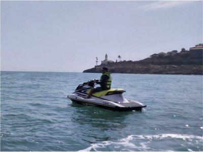 没有执照的喷气滑雪路线瓦伦西亚海岸 1 小时