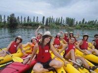 Grupo de kayak