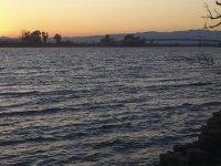 Vistas del río Ebro al atardecer