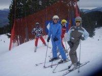 学习使用滑雪板