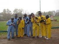 在塞尔塞迪利亚彩弹蓝色人类桌上足球和黄色猴子