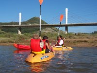 Crossings with kayak and shovel