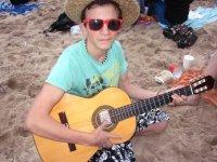 Música en la playa.