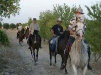 Una ruta en caballos