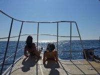 在海上享受完全的舒适体验