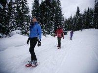 ruta de raquetas de nieve en javalambre