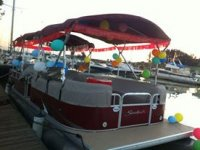 Boat with balloons