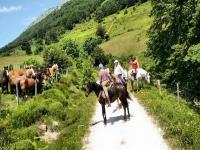 Passeggiate a cavallo attraverso la valle