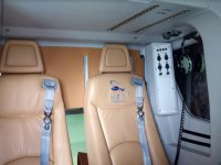 The seats of the helicopter