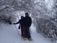 couple with the snowshoes
