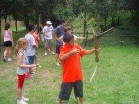 Archery session in Pineda de Mar
