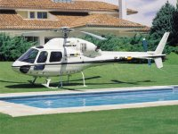 Helicoptero en finca privada