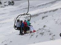 Ski lift in Alto Campoo