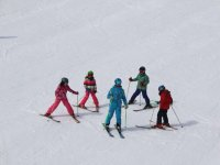 Skiers in Alto Campoo