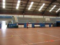 Interior pabellon deportivo