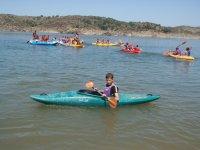 Canoes in the El Vado reservoir