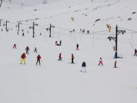 Skiing in the Alto Campoo station