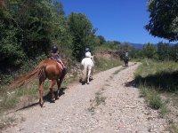 骑在阿拉贡比利牛斯山