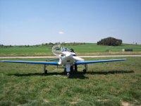 Blue-winged plane